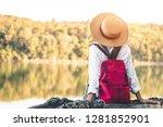 female tourists in beautiful... | Shutterstock . vector #1281852901