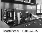 kitchen interior background...   Shutterstock . vector #1281863827