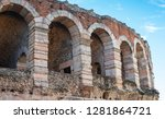 arches and details of famous... | Shutterstock . vector #1281864721