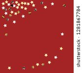 stars confetti diagonal border. ... | Shutterstock .eps vector #1281867784