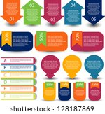 web element collection | Shutterstock .eps vector #128187869
