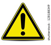 exclamation danger sign | Shutterstock .eps vector #128188349