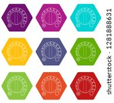 cold heat regulator icons 9 set ...   Shutterstock .eps vector #1281888631
