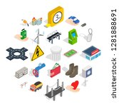 electro business icons set.... | Shutterstock .eps vector #1281888691