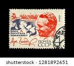 ussr   circa 1964  canceled... | Shutterstock . vector #1281892651