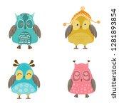 set of vector owls   Shutterstock .eps vector #1281893854