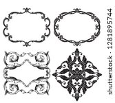 vector set vintage border frame ... | Shutterstock .eps vector #1281895744