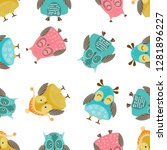 vector seamless pattern with... | Shutterstock .eps vector #1281896227