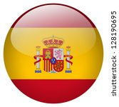 spain flag button | Shutterstock . vector #128190695