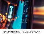 financial stock exchange market ...   Shutterstock . vector #1281917644