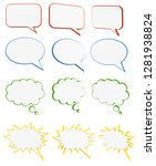 colored speech bubbles. set of... | Shutterstock . vector #1281938824