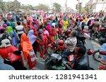 dhaka  bangladesh   january 12  ... | Shutterstock . vector #1281941341