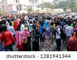 dhaka  bangladesh   january 12  ... | Shutterstock . vector #1281941344