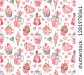 watercolor seamless pattern... | Shutterstock . vector #1281978361