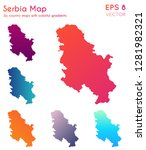 Map Of Serbia With Beautiful...