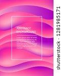 pink soft abstract vertical... | Shutterstock .eps vector #1281985171