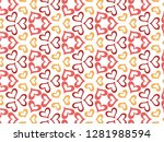 happy valentine's day with... | Shutterstock .eps vector #1281988594