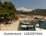 hvar  croatia   august 2018 ...   Shutterstock . vector #1282007644
