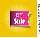 best sale label for your  web ... | Shutterstock .eps vector #128201309