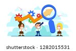 growth and increase of chart...   Shutterstock .eps vector #1282015531