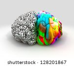 a typical brain with the left... | Shutterstock . vector #128201867