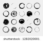 set of monochrome abstract... | Shutterstock .eps vector #1282020001