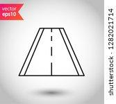 road icon. highway vector sign. ...   Shutterstock .eps vector #1282021714
