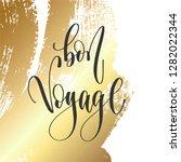 bon voyage   hand lettering... | Shutterstock .eps vector #1282022344