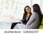 Businesswomen With Digital...
