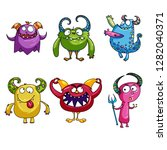 set of monsters | Shutterstock .eps vector #1282040371