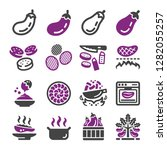 eggplant icon set vector and... | Shutterstock .eps vector #1282055257