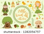 cute forest elf character set...