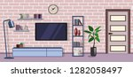 room interior design modern... | Shutterstock .eps vector #1282058497