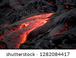 lava flowing from the kilauea... | Shutterstock . vector #1282084417