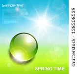 spring background  water drop... | Shutterstock .eps vector #128208539