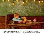 Stock photo school cafeteria little boy in school cafeteria school cafeteria for healthy eating child feed 1282088467
