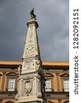 san domenico obelisk in naples... | Shutterstock . vector #1282092151