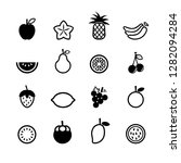 blac icon fruit | Shutterstock .eps vector #1282094284