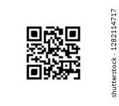 sample qr code icon. vector... | Shutterstock .eps vector #1282114717
