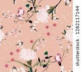 sweet mood of oriental garden...   Shutterstock .eps vector #1282117144