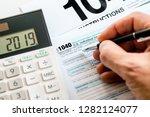 new 2019 irs 1040 tax form ... | Shutterstock . vector #1282124077