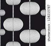 black white pattern with circles | Shutterstock .eps vector #128215787
