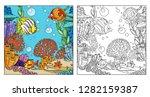 underwater world with corals ... | Shutterstock .eps vector #1282159387