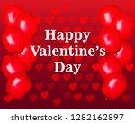 happy valentines day....   Shutterstock .eps vector #1282162897