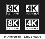 Ultra HD 8K and 4K Logo Set