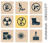 protection icons set with... | Shutterstock . vector #1282221277