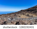 lava deposits on top and valley ... | Shutterstock . vector #1282232431