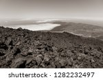 the northern slope and lava... | Shutterstock . vector #1282232497