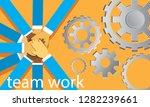 vector illustration. business... | Shutterstock .eps vector #1282239661
