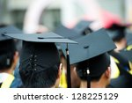 back of graduates during... | Shutterstock . vector #128225129